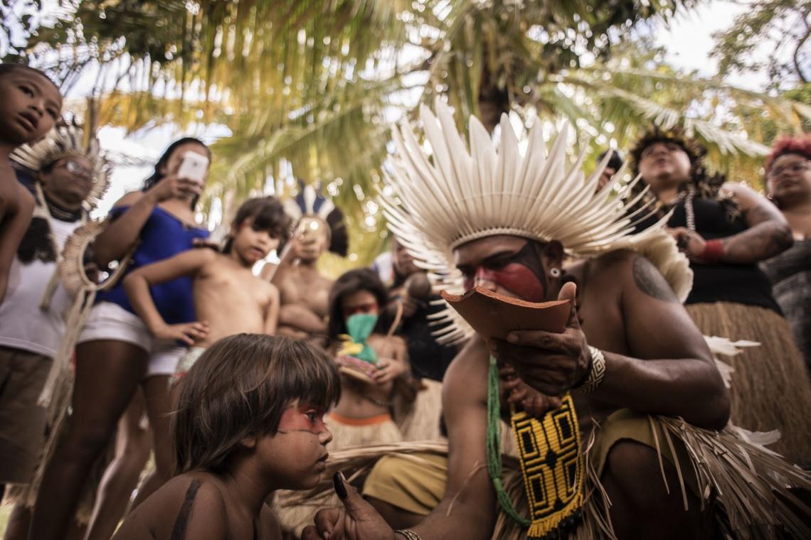 Festa do milho na reserva indígena Pitaguary