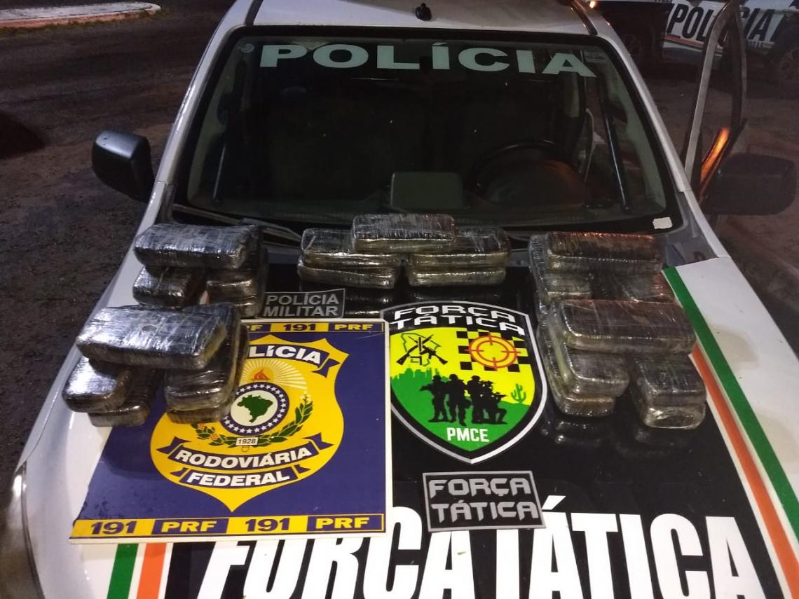 Material apreendido pelas polícias