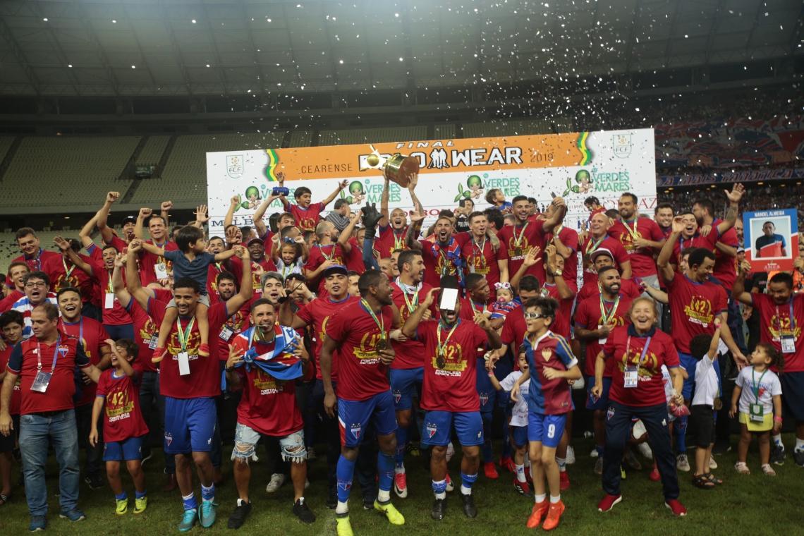FORTALEZA, CE, BRASIL, 21-04-2019: Ceará x Fortaleza, Campeonato Cearense 2019. Segundo jogo da final. Estádio do Castelão.  (Foto: Júlio Caesar/O POVO)