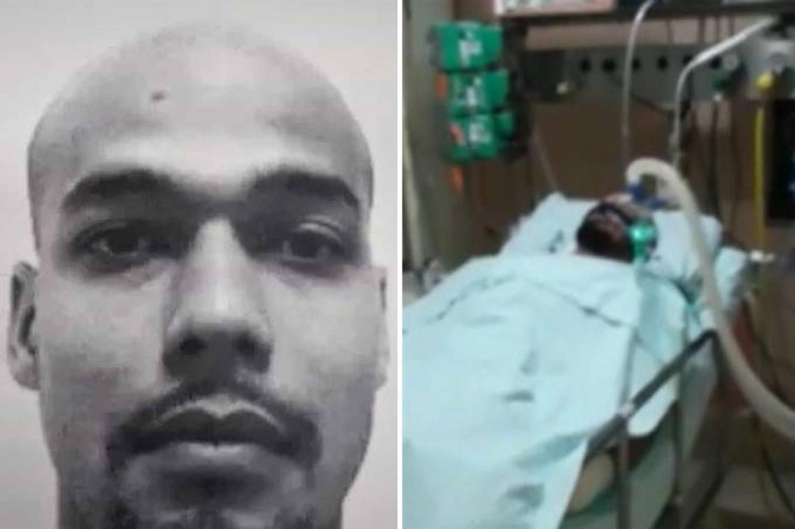 A polícia ainda relata que, ao ser perguntado sobre o ferimento, o homem disse que havia tido um