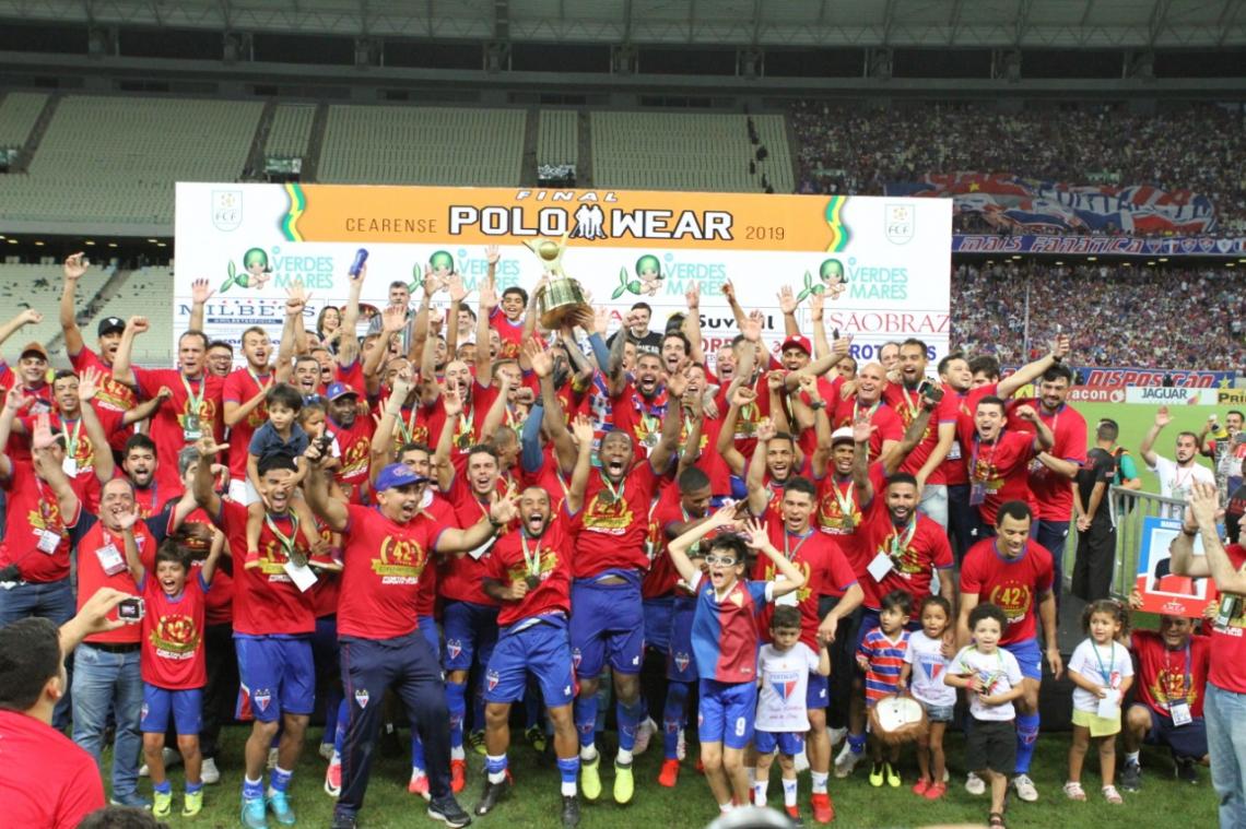 Fortaleza conquistou o estadual após vencer o Ceará na final