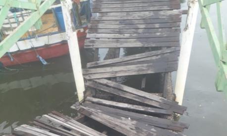 Píer na Barra do Ceará desaba no fim da manhã desta quinta-feira, 25.