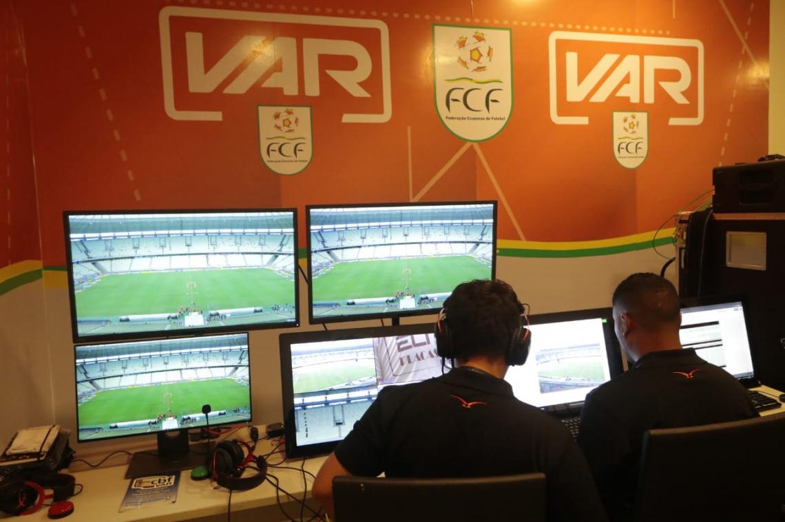 Árbitro de vídeo esteve presente no segundo jogo da final do Campeonato Cearense