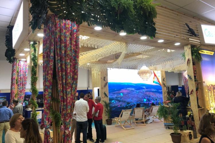 Com um estande de 90 m², Ceará levou ao evento o artesanato do Cariri.