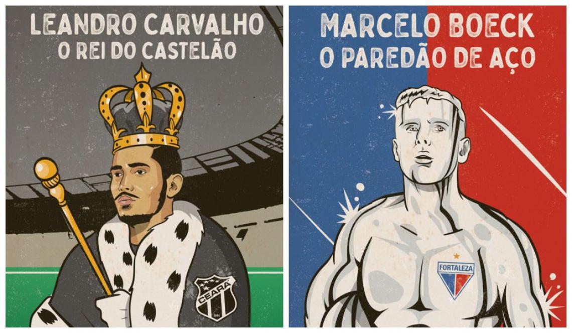 Leandro Carvalho e Marcelo Boeck são ídolos recentes de Ceará e Fortaleza, respectivamente