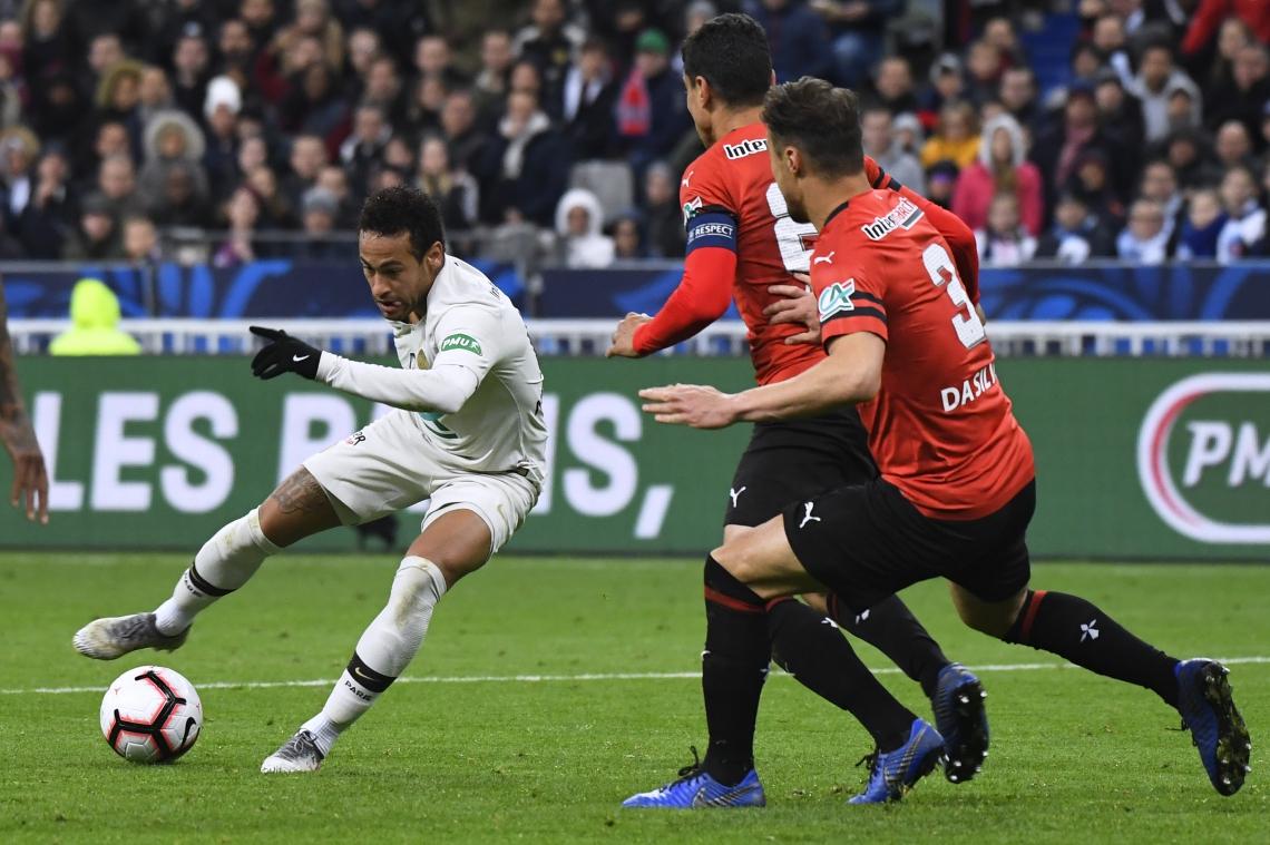 O PSG perdeu para o Rennes nos pênaltis