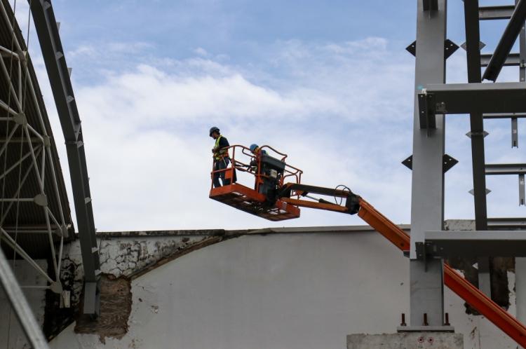 A construção de edifícios foi uma das áreas com maior incidência de acidentes de trabalho