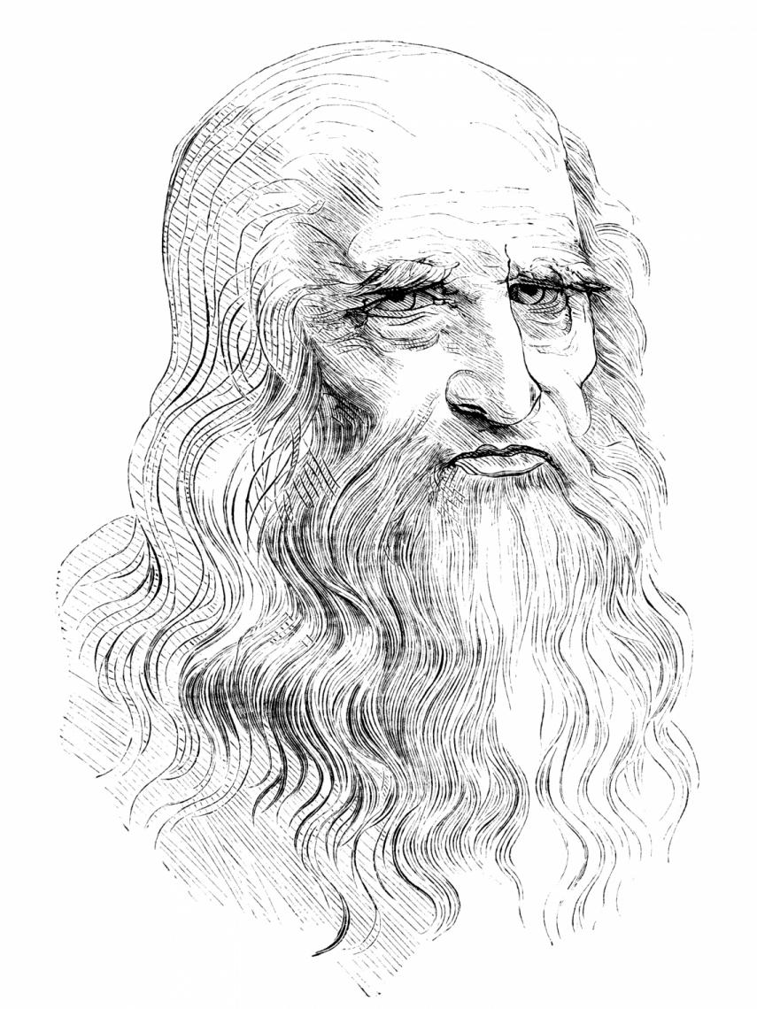 Autorretrato de Leonardo Da Vinci feito entre 1512 e 1515