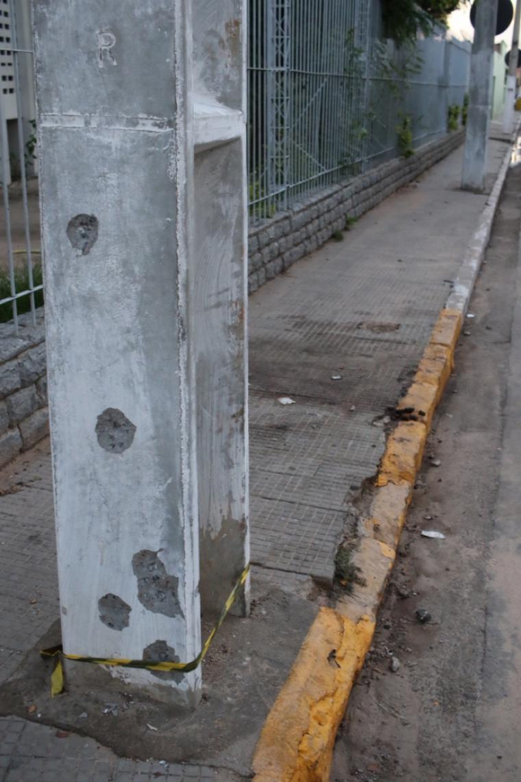 EM MILAGRES, marcas da tentativa de assalto a bancos que resultou na morte de seis reféns e oito assaltantes