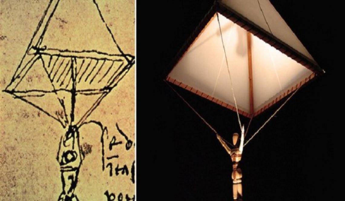 Paraquedas projetado por Da Vinci há mais de 500 anos
