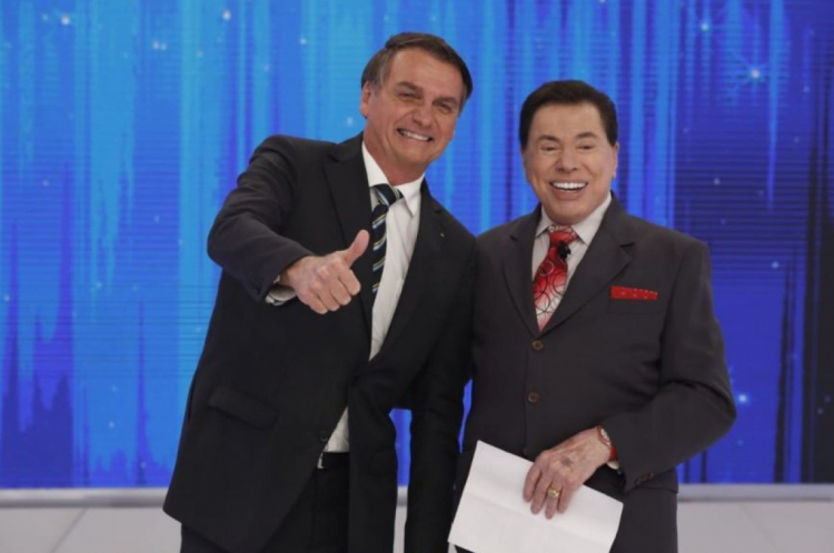 BOLSONARO no programa Silvio Santos deste domingo