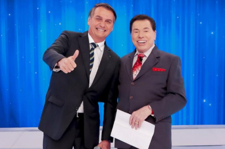 Bolsonaro e Silvio Santos: entretenimento