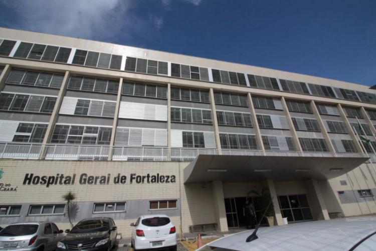 Hospital Geral de Fortaleza é uma das principais unidades estaduais de saúde do Ceará (Foto: MAURI MELO/O POVO)
