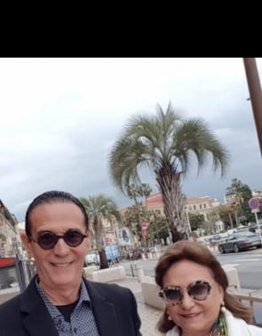 Aristófanes e Vânia Canamary em Cannes