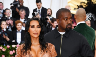 Kim Kardashian West e e seu marido, o rapper Kanye West.