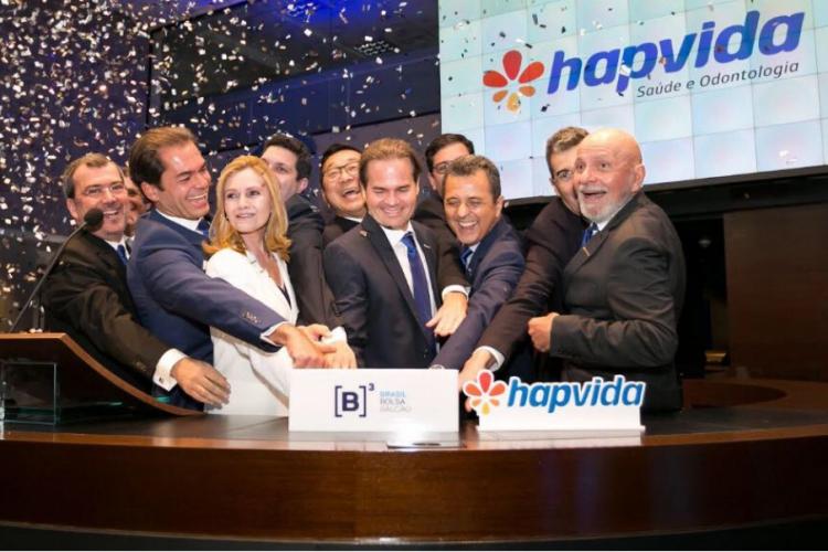 HAPVIDA abriu capital na Bolsa de Valores (B3) em abril de 2018 (Foto: DIVULGAÇÃO)