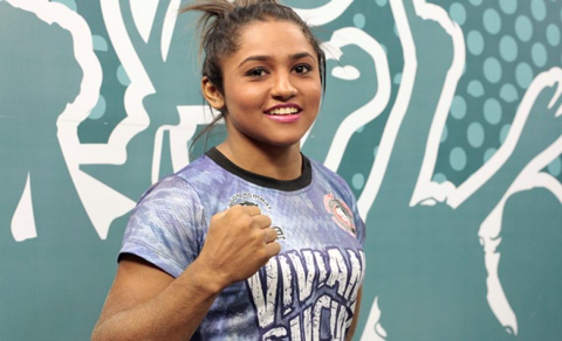 Ex-UFC, Sucuri vive período de dificuldades após maternidade (Foto: (Foto: Júlio Caesar/ O POVO))