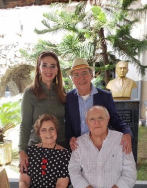 Magda, Pedro, Regina e Luiz Marques