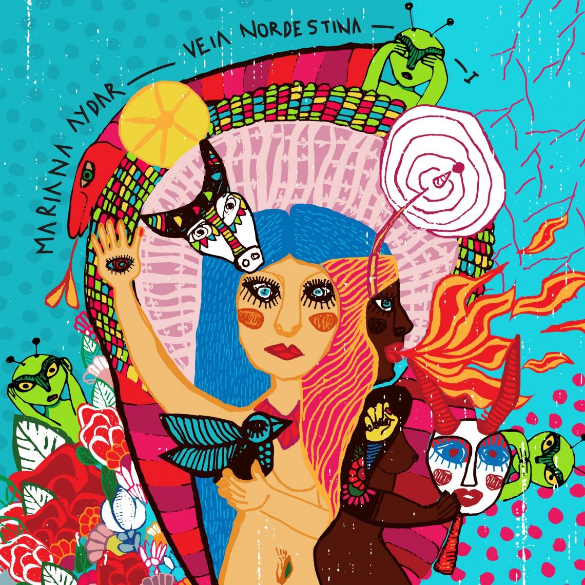 Capa do novo EP de Mariana Aydar, Veia Nordestina