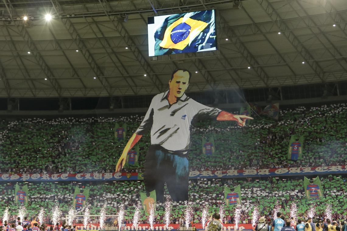 Mosaico do Rogério Ceni no jogo Fortaleza X São Paulo em 12/05/2019