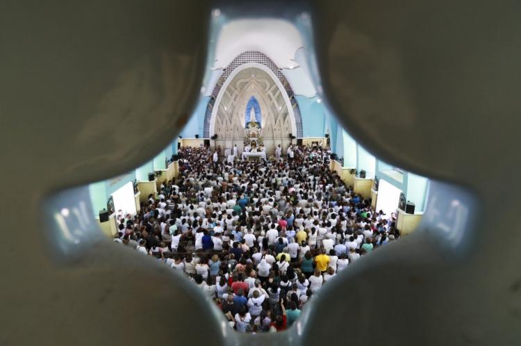 Missa do dia 13 de maio em comemoração à Nossa Senhora de Fátima