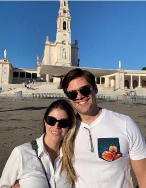 Emmanuel Machado e Bruna viveram o 13 de Maio em dia de oração no Santuário de Fátima (Portugal)