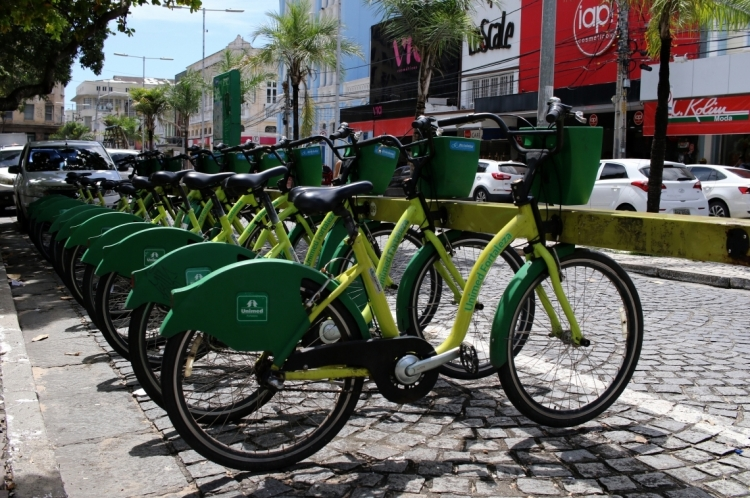 Estação do Bicicletar, na Praça do Ferreira.
