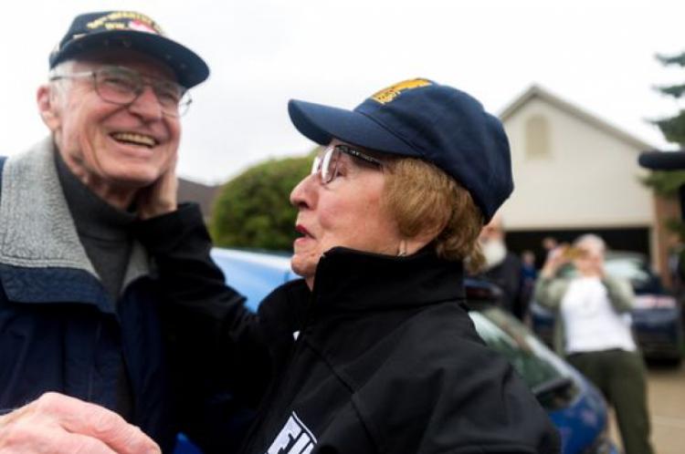 Sophie Klisman e Doug Harvey se reencontraram mais de 70 anos após derrota nazista