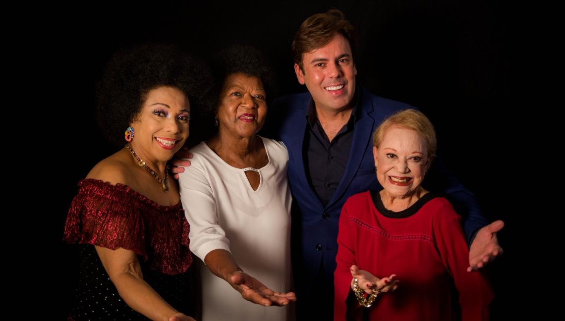 Claudette Soares, Alaíde Costa, Eliana Pittman e Márcio Gomes se encontram em homenagem a Dalva de Oliveira