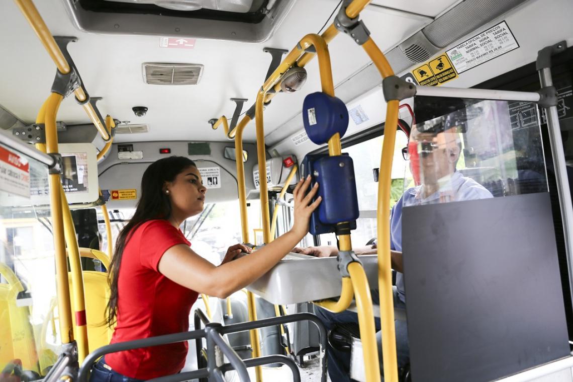 O botão virtual de denúncia Nina ajuda no mapeamento de assédio sexual nos transportes públicos de Fortaleza. (Foto: Mariana Parente em 17/07/2017)