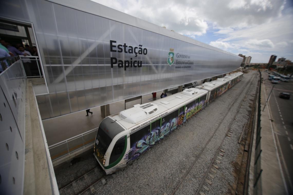 Estação Papicu do ramal Parangaba-Mucuripe do VLT