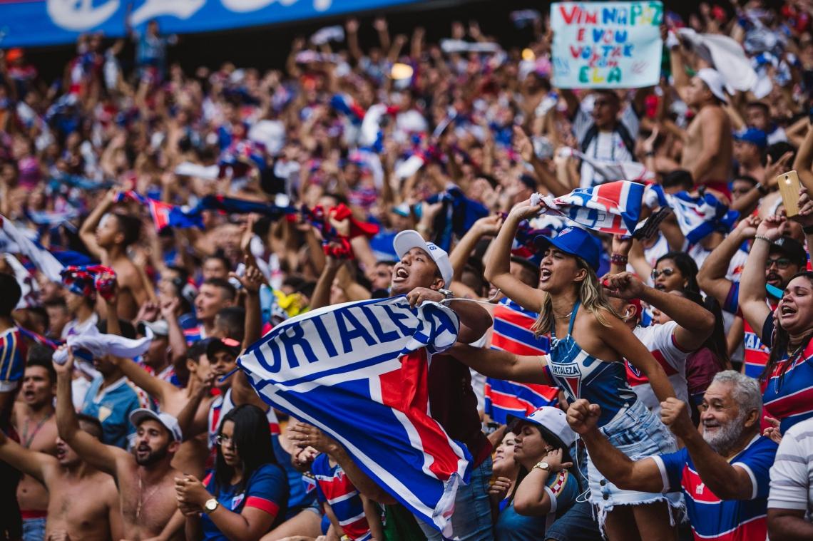 TORCEDORES do Fortaleza proporcionaram arrecadação líquida de mais de R$ 374 mil