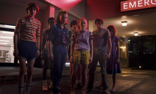 Foto da série Stranger Things, produção da Netflix