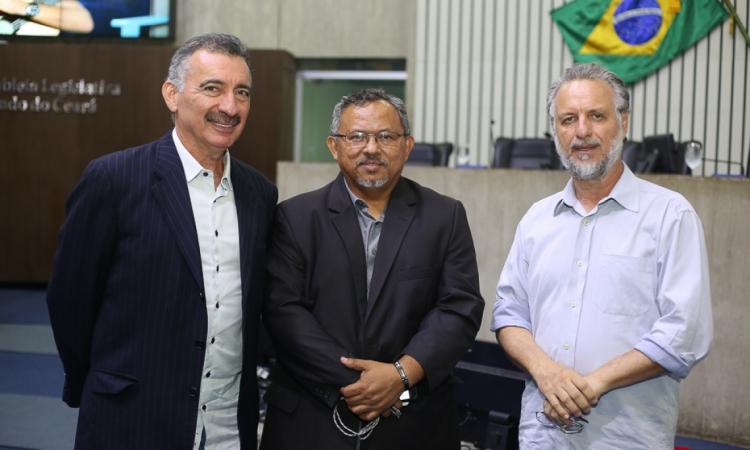 Artur Bruno, Gilvan Paiva e Plínio Bortolotti