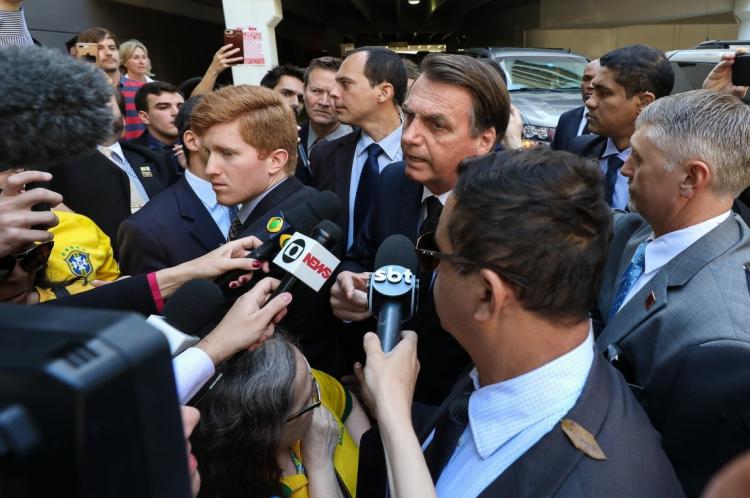 Presidente da República Jair Bolsonaro está nos Estados Unidos