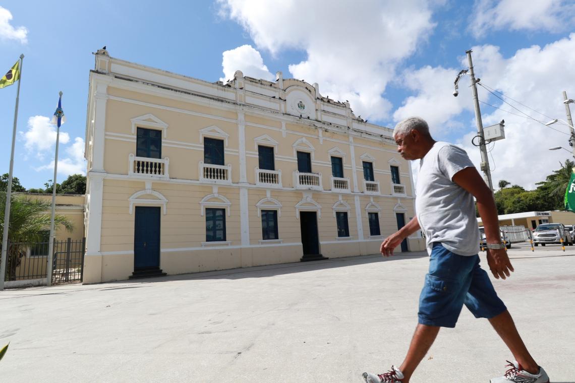 FORTALEZA,CE,BRAZIL,17.05.2019: Fachada do prédio Paço Municipal, no Centro. (fotos: Tatiana Fortes/ O POVO) (Foto: Tatiana Fortes)