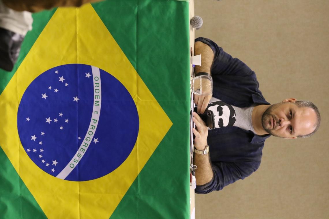 FORTALEZA, CE, BRASIL, 19.05.2019:Heitor Freire, deputado federal pelo PSL.  segunda Convençao Estadual do Movimento Direita Ceará . Hotel Praia Centro.  (Fotos: Fabio Lima/O POVO)