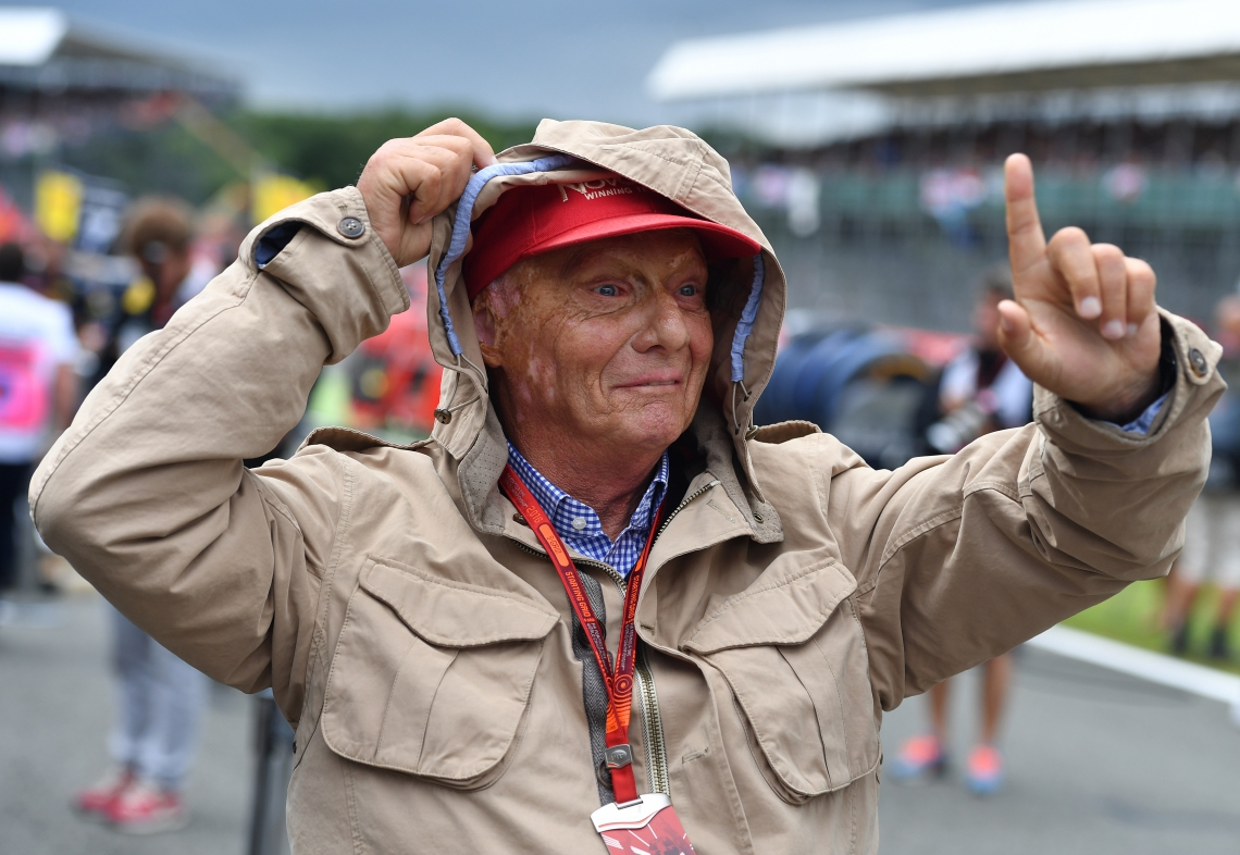 (FILES) In this file photo taken on July 10, 2016, former Formula One Champion Niki Lauda is pictured ahead of the British Formula One Grand Prix at Silverstone motor racing circuit in Silverstone, central England. - Legendary Formula One driver Niki Lauda has died at the age of 70, his family said in a statement released to Austrian media early Tuesday, May 21, 2019. (Photo by ANDREJ ISAKOVIC / AFP)