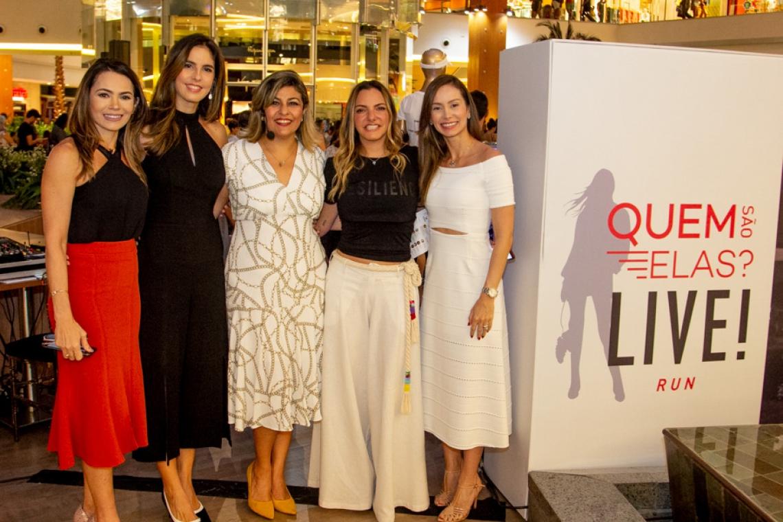 Joseane Ramalho, Marília Fiuza, Carla Soraya, Cau Saad e Maryna Landim no Shopping Iguatemi, que promoveu o evento