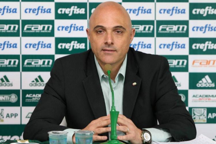 Presidente do Palmeiras, Maurício Galiotte lançou nota em nome do clube para falar do caso  (Foto: César Greco/Ag. Palmeiras)
