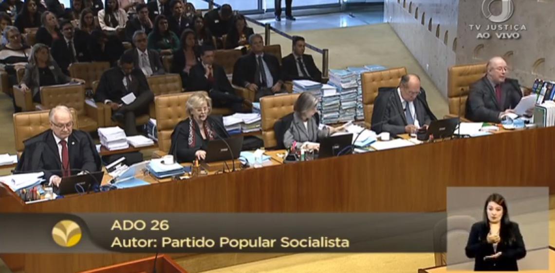 STF retoma julgamento sobre criminalização da LGBTfobia.