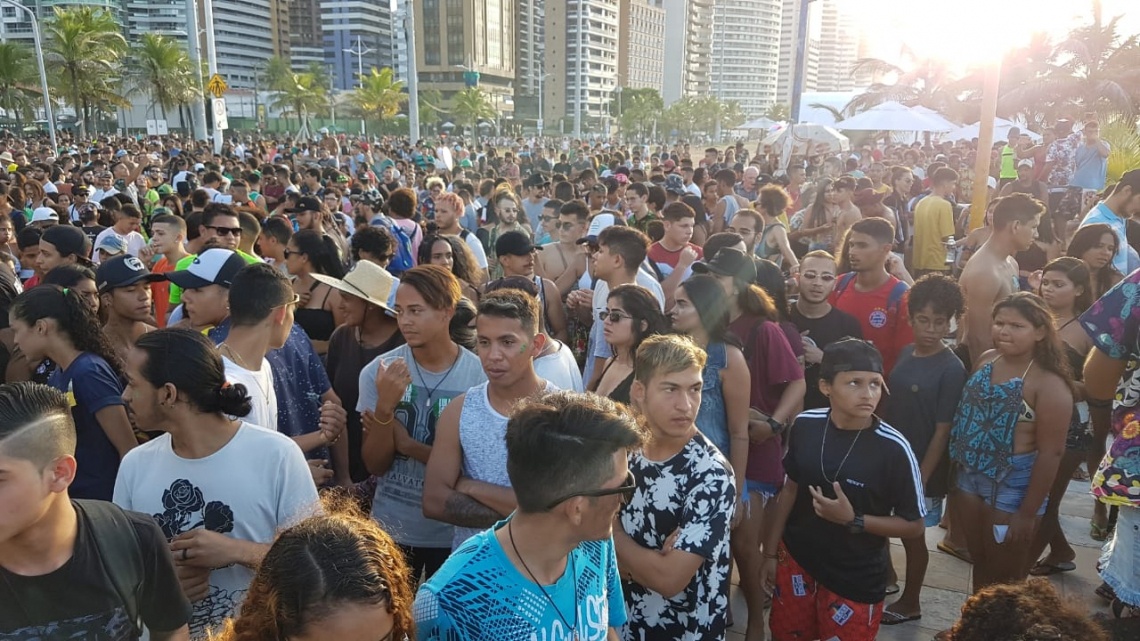 Ativistas durante a 11ª edição da Marcha da Maconha Fortaleza