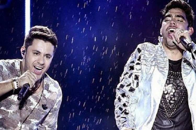 Gabriel Diniz e Cristiano Araújo em show