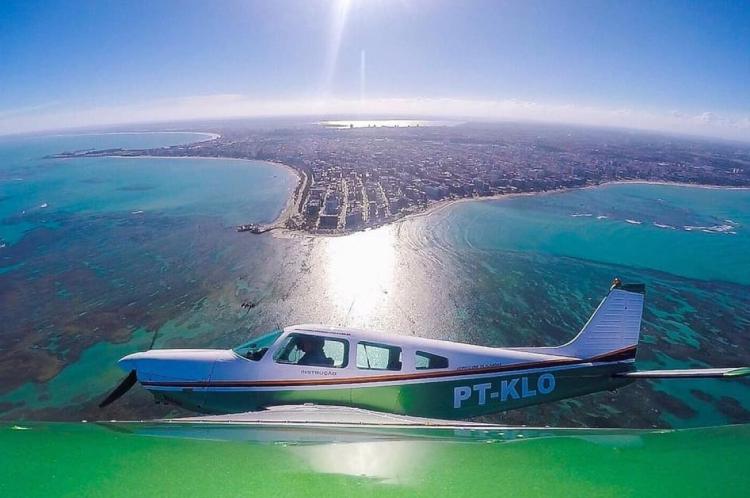 Foto da aeronave publicada no último dia 11 de abril no site do Aeroclube de Alagoas