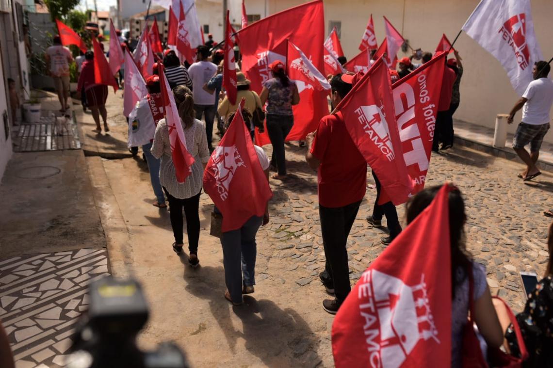 O movimento integra a sequência de 10 protestos contra a reforma da Previdência.