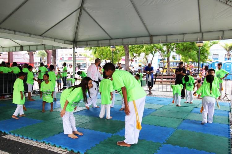 Ação do Sesc na Praça do Ferreira
