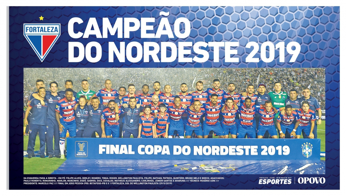 Pôster do Fortaleza campeão da Copa do Nordeste 2019