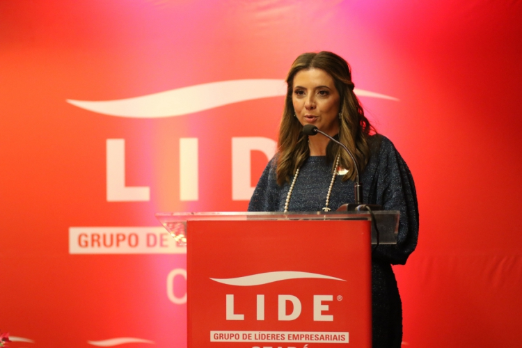 Emilia Albuquerque é a presidente da Lide Ceara. Grupo tem discutido rumos do setor empresarial (Foto: Fabio Lima)