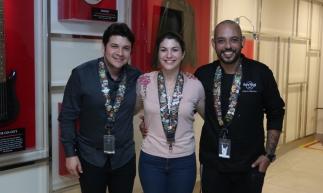 Leônidas Macena, Bianca Bento, Vinicius Leite: Esse trio de profissionais se responsabiliza pela excelência dos serviços, da gastronomia e da alegria que acontece durante seus momentos presentes ao Hard Rock Café.
