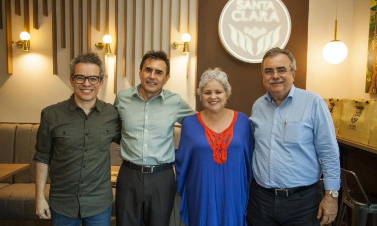 Fabiano Piúba, Pedro Lima, Raquel Gadelha e Assis Cavalcante